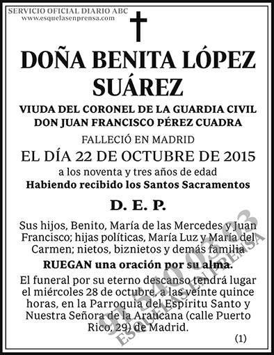 Benita López Suárez